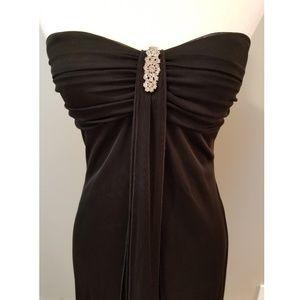Floor-Length Black Embellished Dress